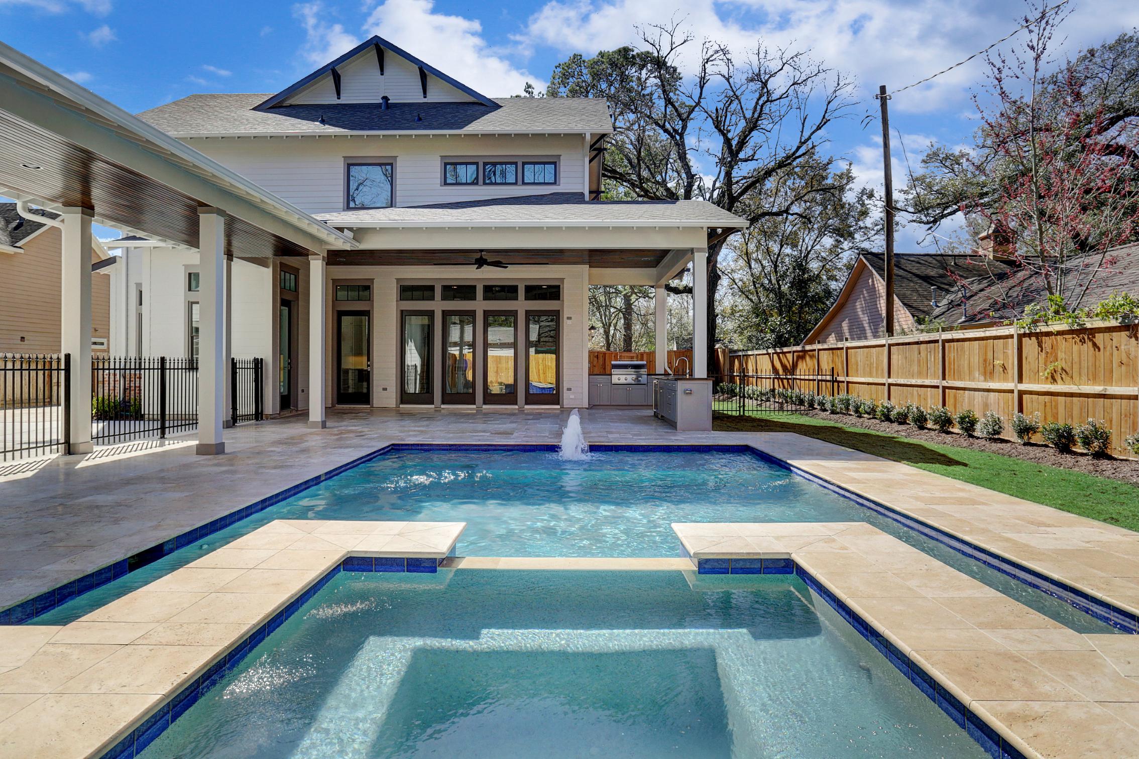 Backyard Pool in Houston Home