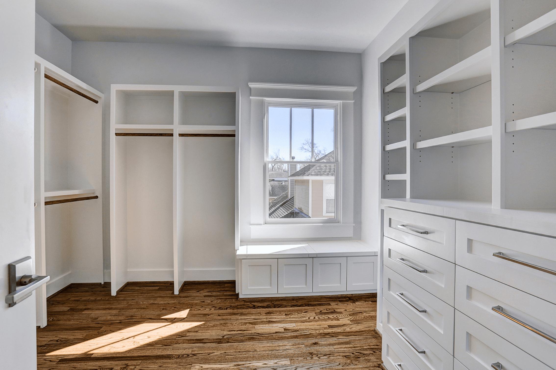 Closet Storage Space in Master Bedroom
