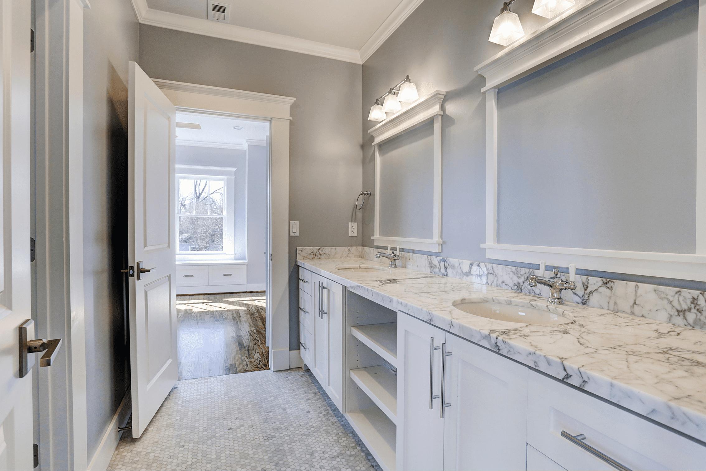 Marble Tops in Bathroom