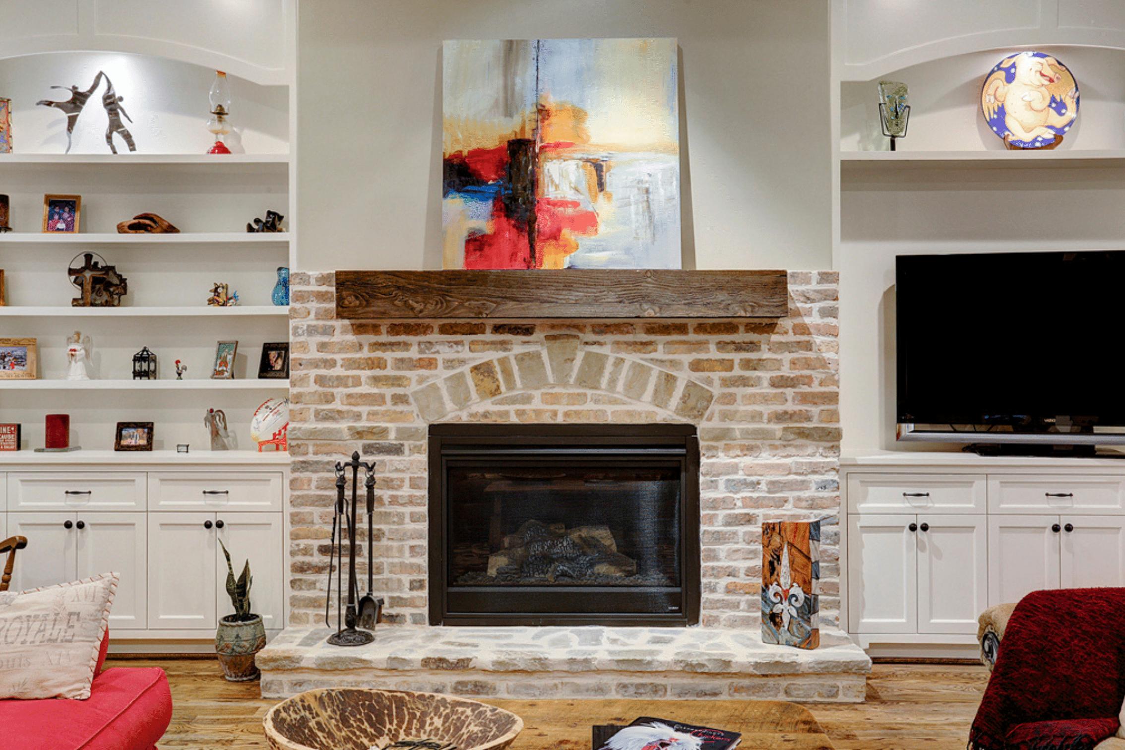 Brick Luxury Fireplace