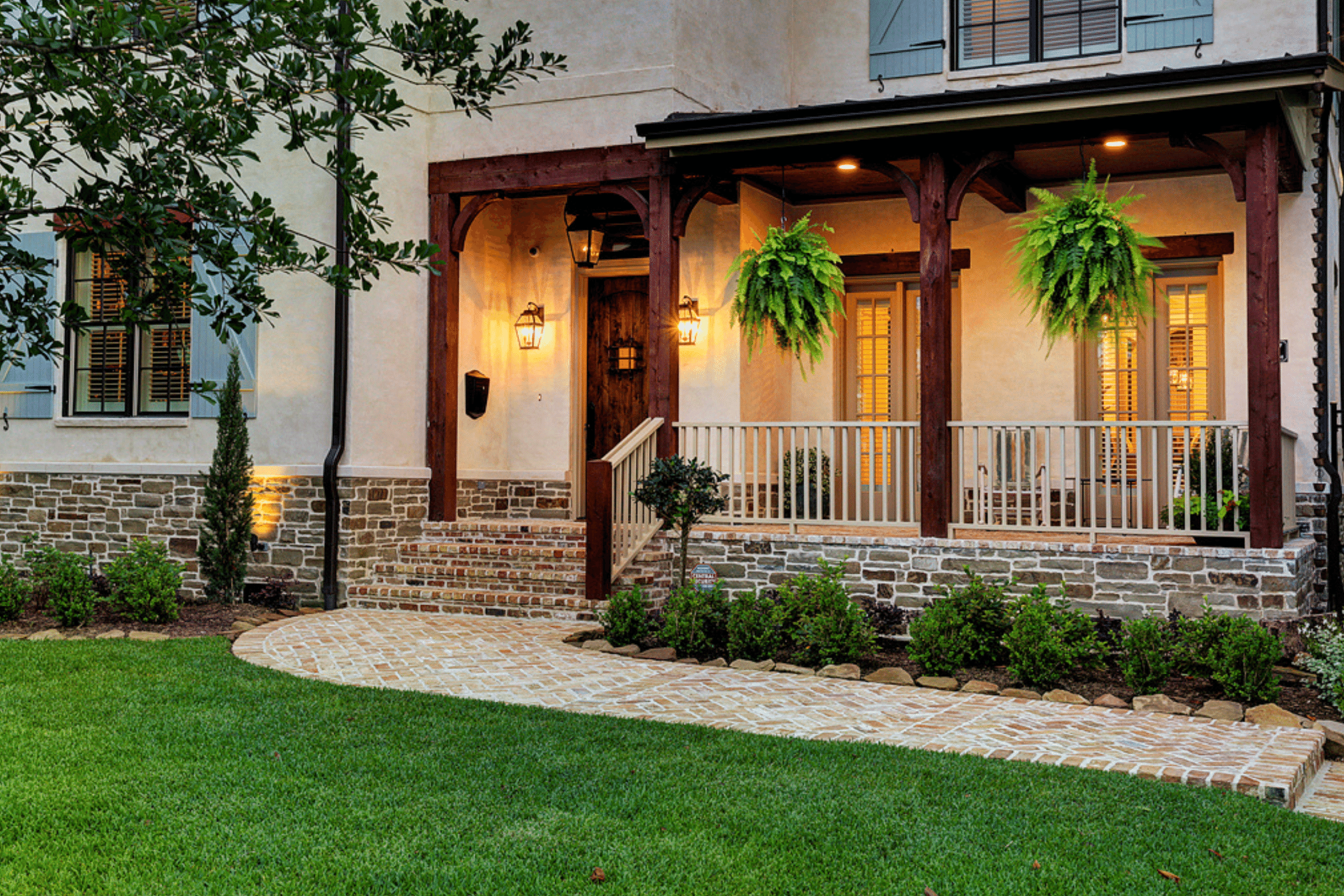 Front Porch in Houston Remodel