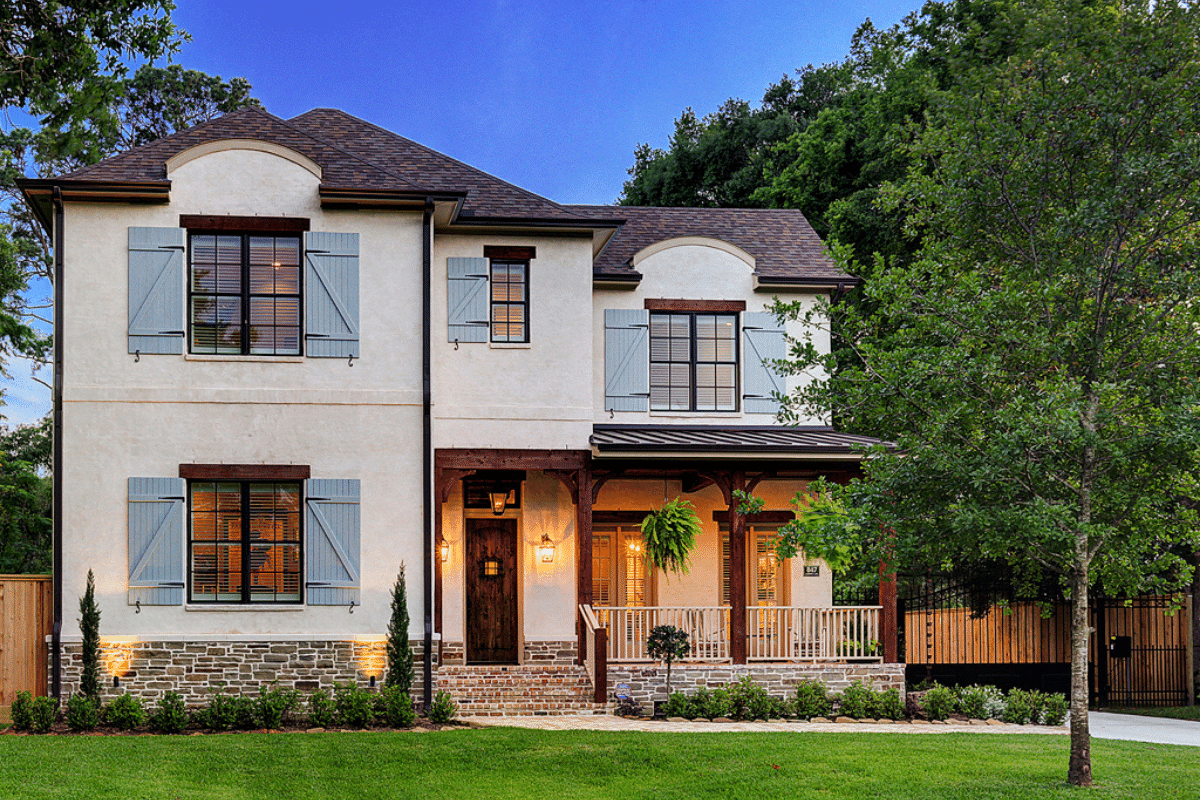 French Country Exterior in Houston