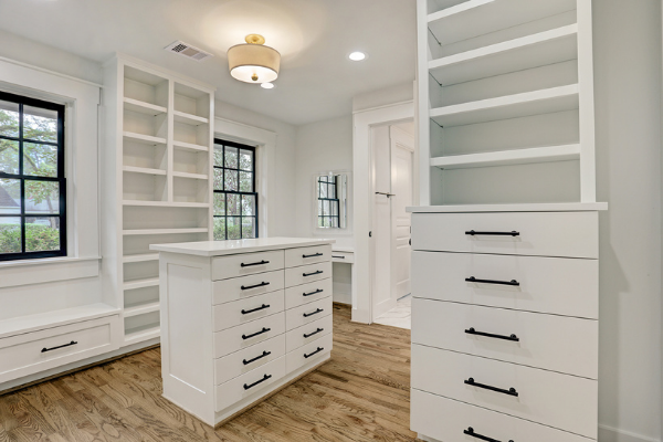 Custom Master Bedroom Walk-In Closet Renovation Houston