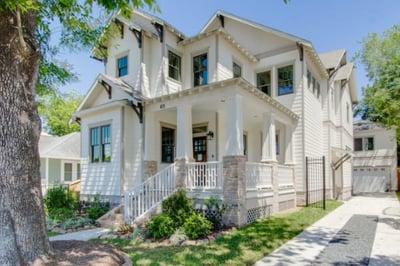 Custom home in Houston, exterior with craftsman style door.jpg