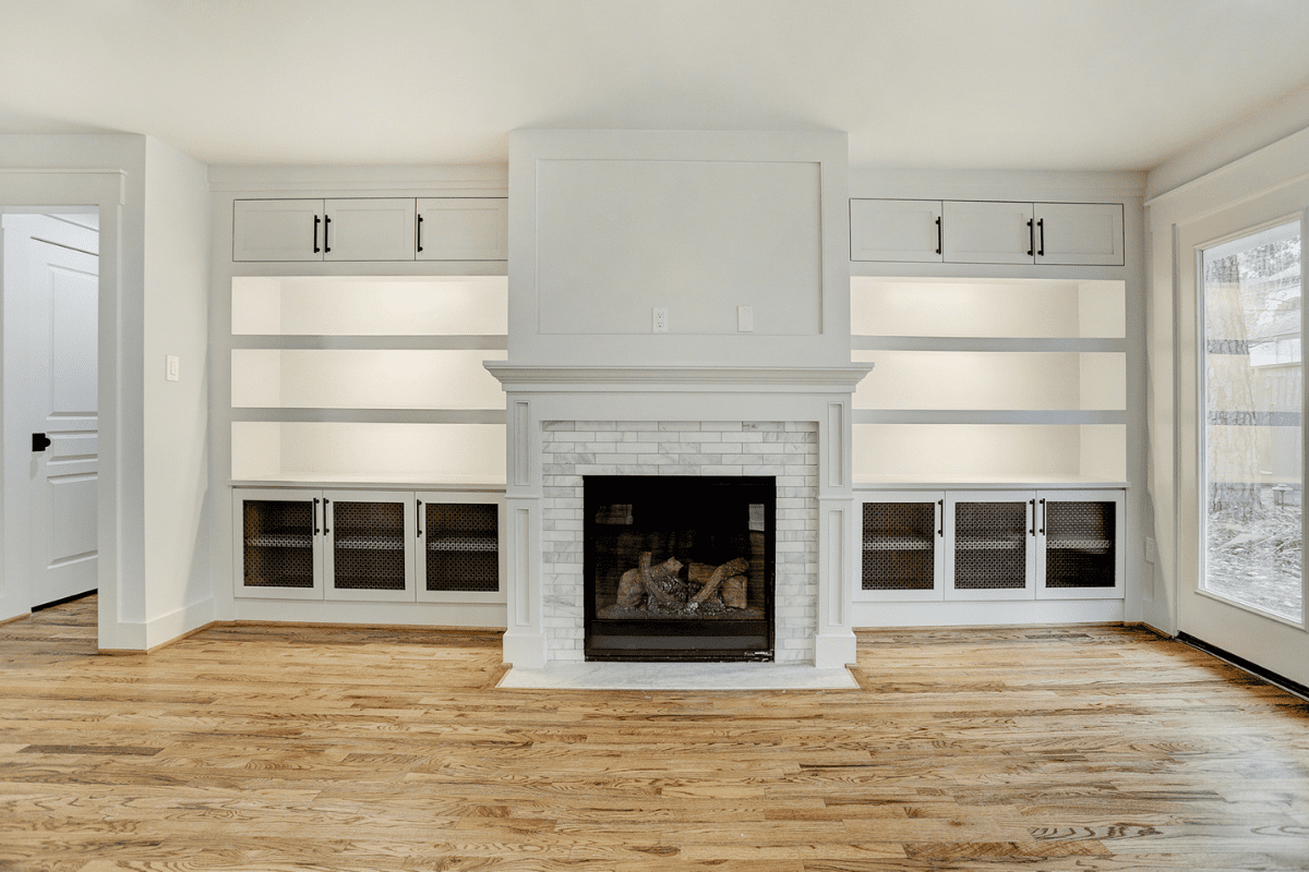 Houston Double Sided Fire Place Renovation Living Room