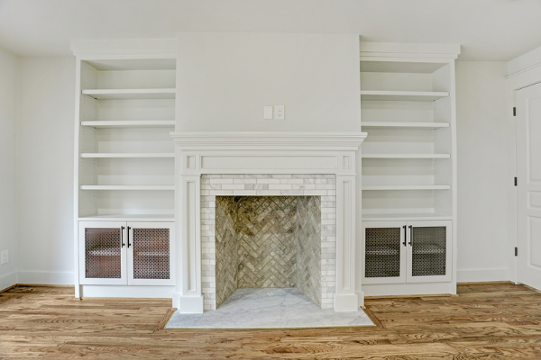 Houston Double Sided Fire Place Renovation Master Bedroom
