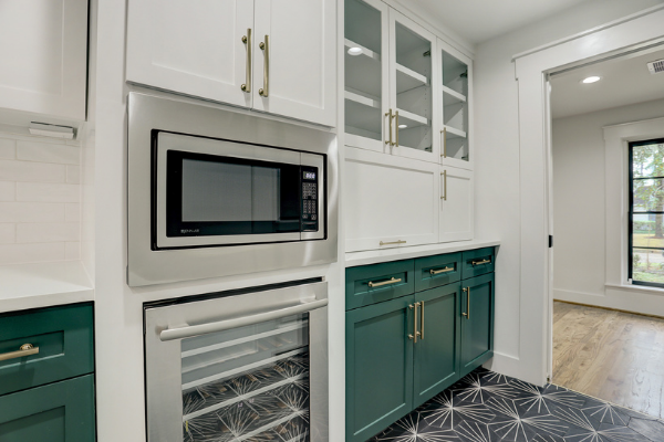 Houston Kitchen Remodeling Green Cabinets