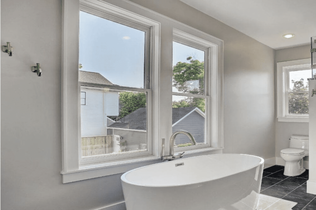 Classic Master Bathroom in a Historic Remodel in the Houston Heights