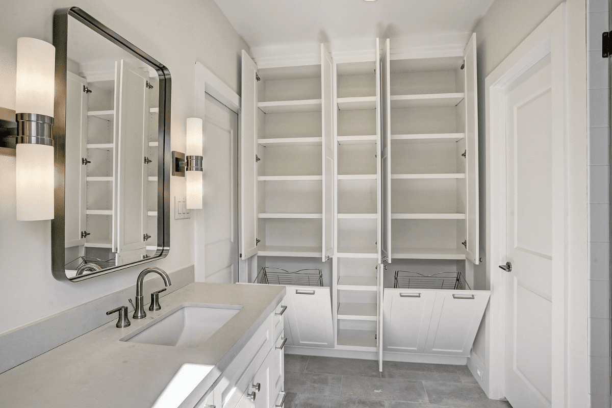 Custom Bathroom Remodel with Extra Storage Space in Houston