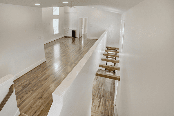 Exposed Beams in the Entry Way of a Luxury Home in Houston