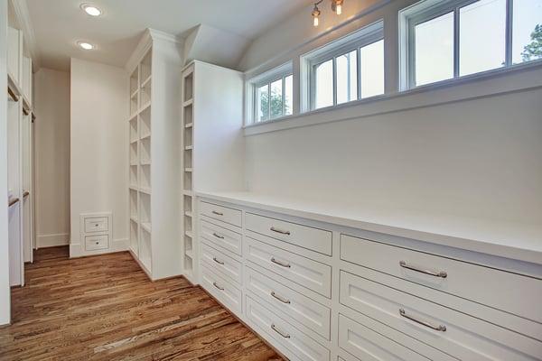 Built-in Custom Storage in the Master Bedroom Closet