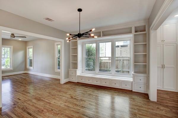 Custom Built-in Storage Space in the Living Room