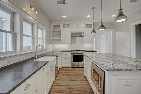 Custom Home Kitchen with Custom Inset Cabinetry in Houston