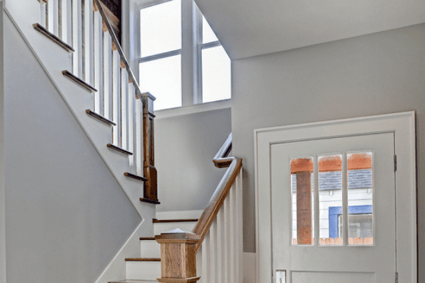 Historic Heights Neighborhood Remodel Entryway and Staircase
