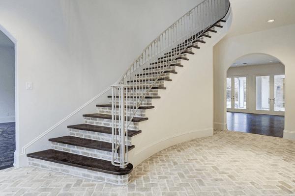 Brick Flooring and Brick Riser Staircase  (1)