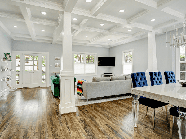 Home Addition in The Houston Heights - Living Room