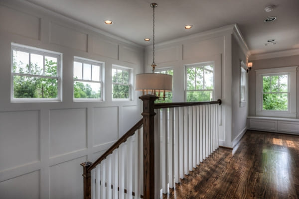 Natural lighting above staircase in custom home in Houston