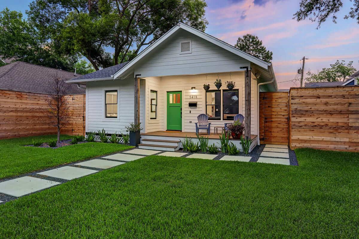 Ashland 1418 Houston Additon & Remodel Front Elevation