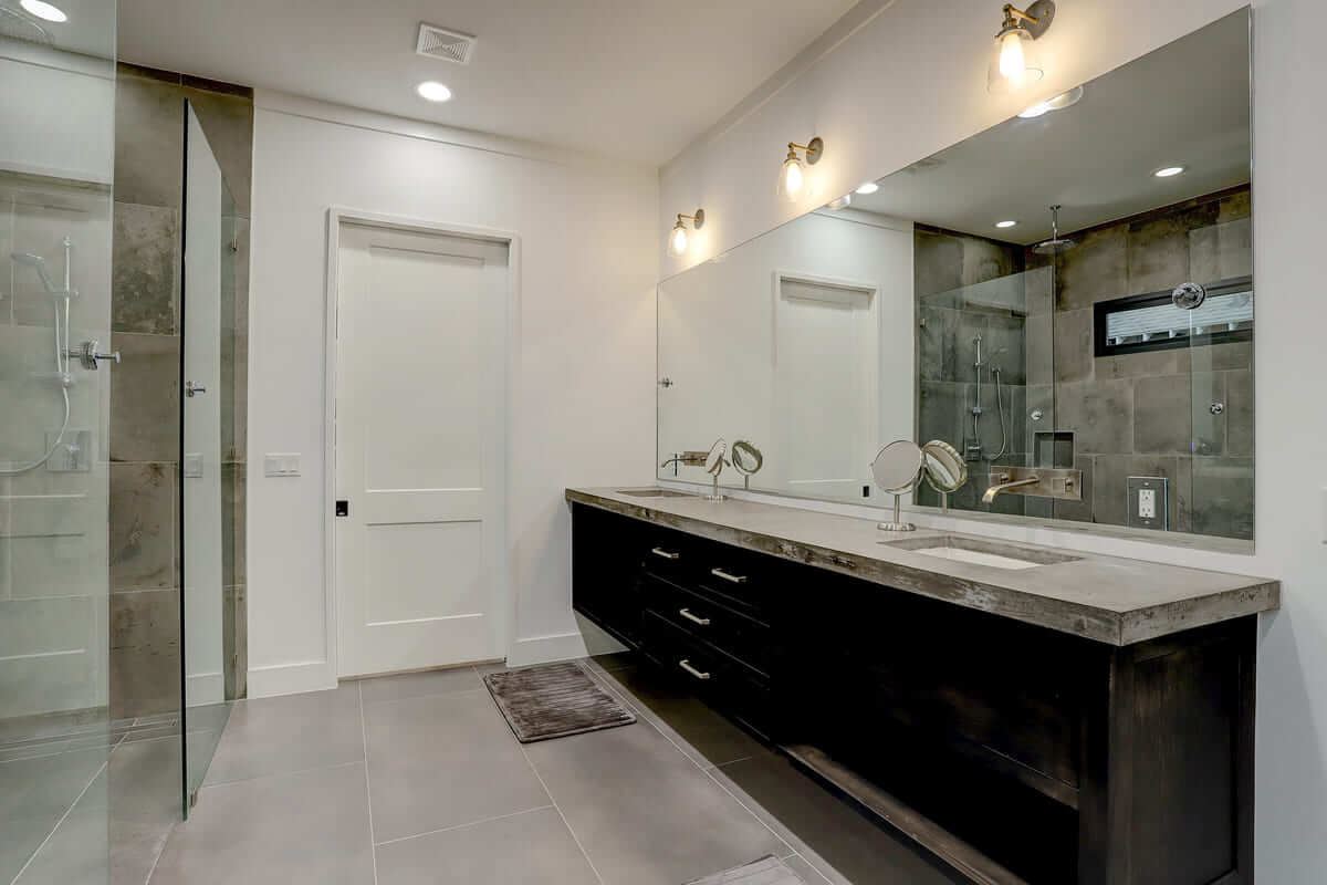 Ashland 1418 Houston Additon & Remodel Master Bathroom Floating Vanity