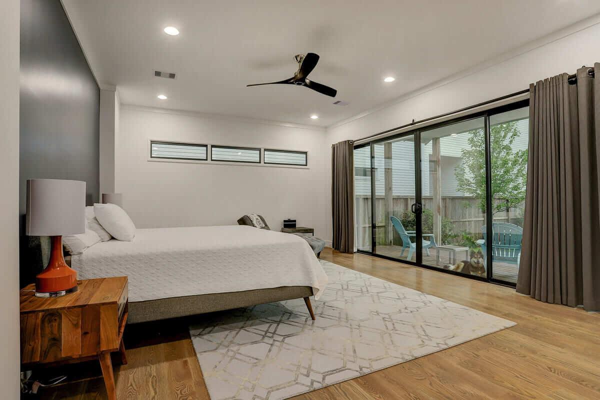 Ashland 1418 Houston Additon & Remodel Master Bedroom Natural Lighting
