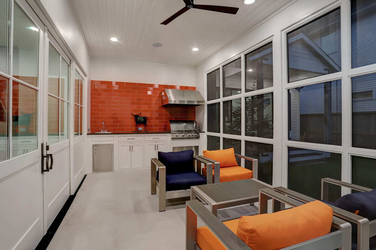 Ashland 1418 Houston Additon & Remodel Sunroom