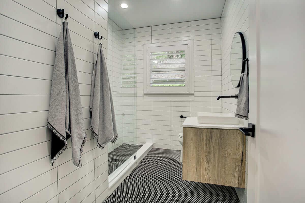 Oxford Street Home Remodel Bathroom with Floated Vanity