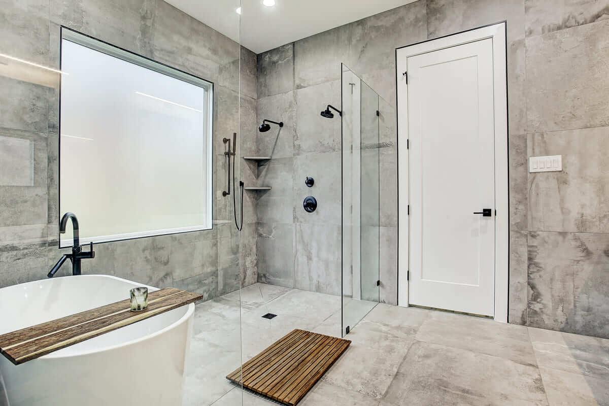 Oxford Street Home Remodel Lip Less, Walk In Shower