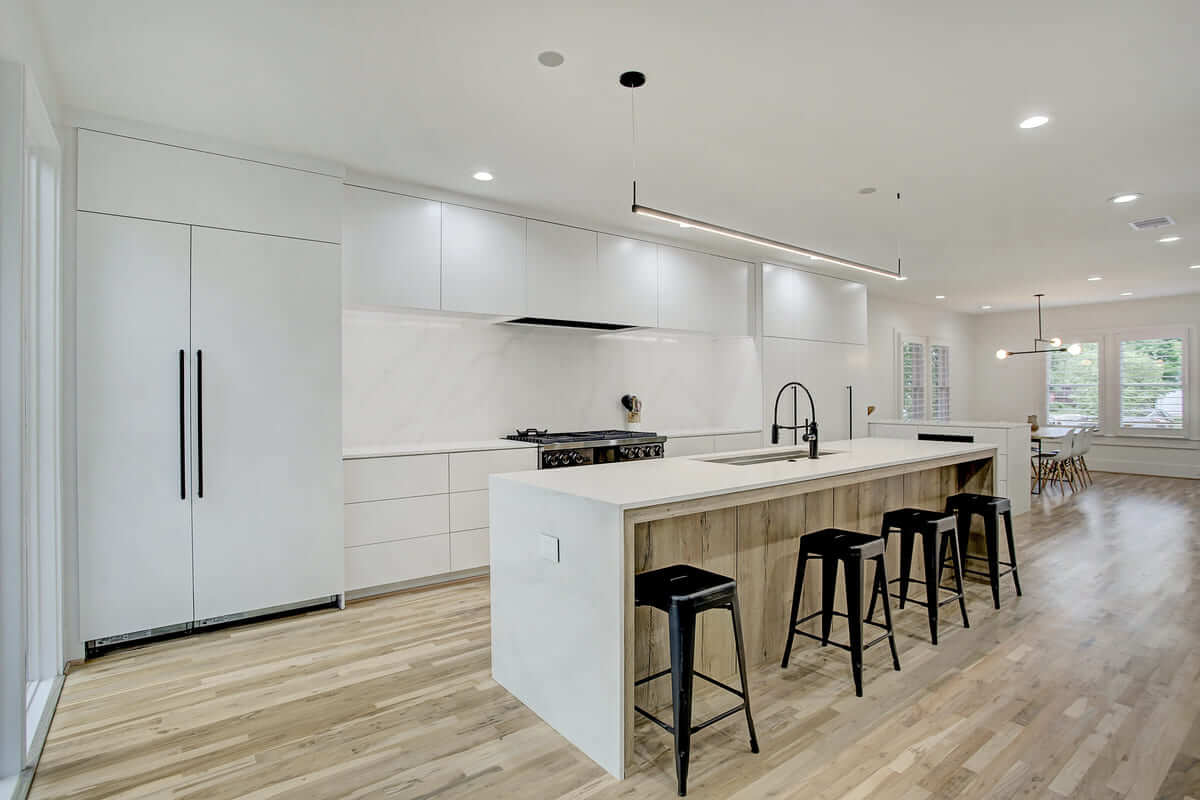 Oxford Street Home Remodel Open Layout White Kitchen